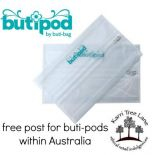 2 pack buti-pods wipes cases v3 - free post!